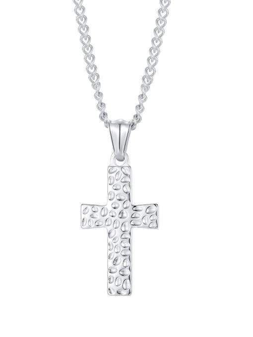 2001 [steel pendant chain] Titanium Steel Cross Hip Hop Regligious Necklace